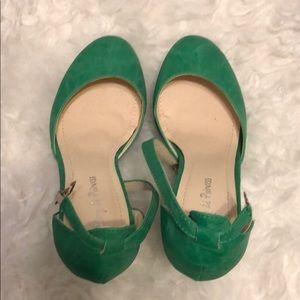 Shoes - Green heels